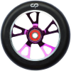Crisp Alloy Core Drilled - 88a 125mm - Purple/Black - Scooter Wheels ( 1 Wheel)