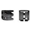 "Lucky Dub Cut Out 1 3/8"" - Black - Scooter Clamp"