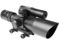 Aim Sports 2.5-10x40mm Green Laser Rifle Scope w/ Mil Dot Reticle - Titan Series (JDNG251040G-N)