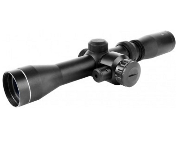 Aim Sports 2-7x32mm Red Laser Rifle Scope w/ Duplex Reticle - Scout Series (JHR2732B)