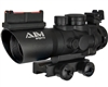 Aim Sports 4X32mm Rifle Scope w/ Tri-Illumination & Arrow Reticle - Prismatic Series (JTAPO432G)