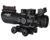 Aim Sports 4x32mm Tri Illuminated Scope w/ Fiber Optic Sight - Recon Tactical Series (JTSFO432G-N)