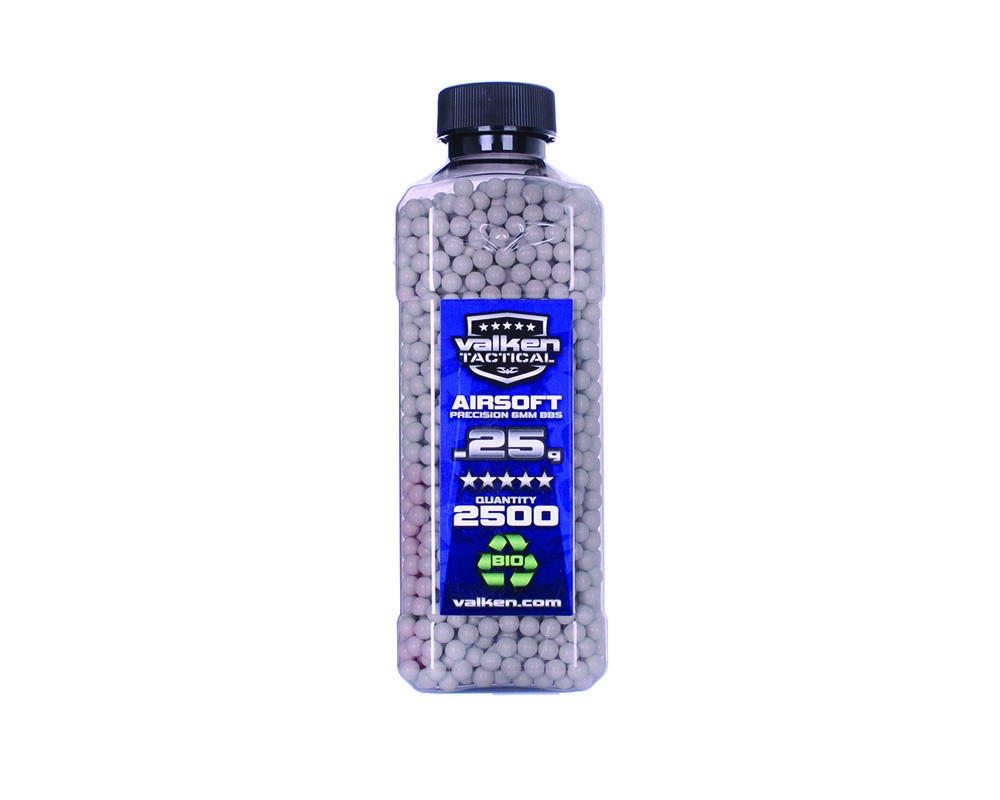 Valken ACCELERATE Tactical 0.25g White Airsoft BBs 5000 Count Bottle