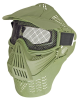 Full Coverage Tactical Airsoft Mask - Mesh Goggles - Green