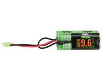 Valken Energy Airsoft Battery - 9.6V NiMH 2000mAh - Split