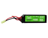 Valken Energy Airsoft Battery - 11.1V 1600mAh LiPo - Split