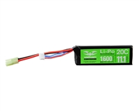 Valken Energy Airsoft Battery - 11.1V 1600mAh LiPo 20C - Mini Brick