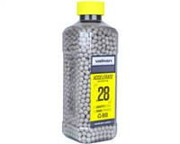 Valken .28g Airsoft Bio BB's Accelerate - 2500 Count - White (93412)
