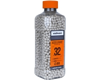 Valken .32g Airsoft Bio BB's Accelerate - 2500 Count - White (93498)