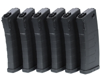 KWA Airsoft Magazine - M4/M16 (Mid Cap) (120 Rounds) - Black (6-Pack)
