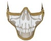 Protective Strike Steel 2G Airsoft Mask - Tan Skull