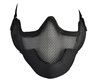 Protective Strike Steel 3G Airsoft Mask w/ Ear Protectors - Black