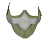 Protective Strike Steel 3G Airsoft Mask w/ Ear Protectors - Green
