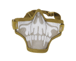 1G Strike Steel Half Airsoft Mask - Tan Skull