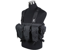 Defcon Gear Airsoft Vest - 600 Denier AK Belly Rig - Black
