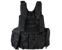 Defcon Gear Airsoft Vest - 900 Denier Complete CFR Carrier - Black