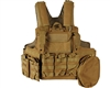 Defcon Gear Airsoft Vest - 900 Denier Complete CFR Carrier - Coyote Brown