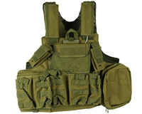Defcon Gear Airsoft Vest - 900 Denier Complete CFR Carrier - OD