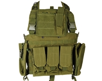 Defcon Gear Airsoft Vest - 600 Denier Commando Chest Rig - OD