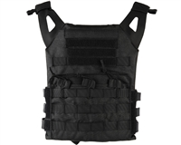 Defcon Gear Airsoft Vest - Low Profile Plate Carrier - Black