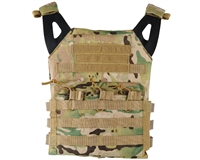 Defcon Gear Airsoft Vest - Low Profile Plate Carrier - Camo