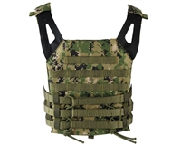 Defcon Gear Airsoft Vest - Low Profile Plate Carrier - Digi Woodland