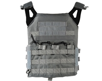 Defcon Gear Airsoft Vest - Low Profile Plate Carrier - Gray