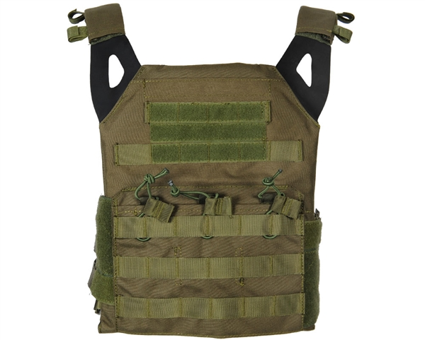 Defcon Gear Airsoft Vest - Low Profile Plate Carrier - OD