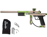 Azodin KP3 Kaos Pump Paintball Gun - Dust Earth/Polished Green/Dust Black