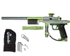 Azodin KP3 Kaos Pump Paintball Gun - Dust Titanium/Polished Green/Dust Green