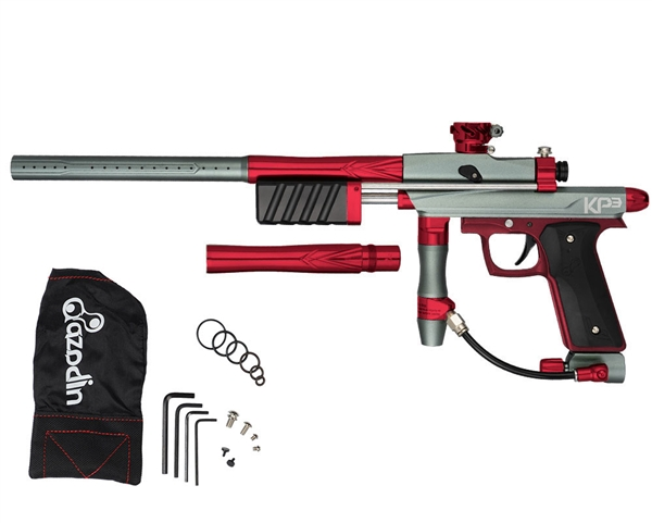 Azodin KP3 Kaos Pump Paintball Gun - Dust Titanium/Polished Red/Dust Red