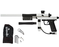 Azodin KP3 Kaos Pump Paintball Gun -Polished White/Dust Black/Dust Black