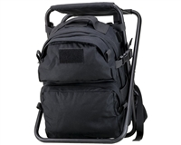Defcon Gear Backpack w/ Attached Chair - Black