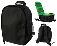 Warrior Light Weight Backpack w/ Compartments - Black/Green