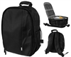 Warrior Light Weight Backpack w/ Compartments - Black/Grey