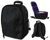 Warrior Light Weight Backpack w/ Compartments - Black/Purple