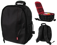Warrior Light Weight Backpack w/ Compartments - Black/Red