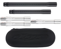 Dye Ultralite Complete Barrel Kit - Autococker - Dust Black Front/Dust Silver Back