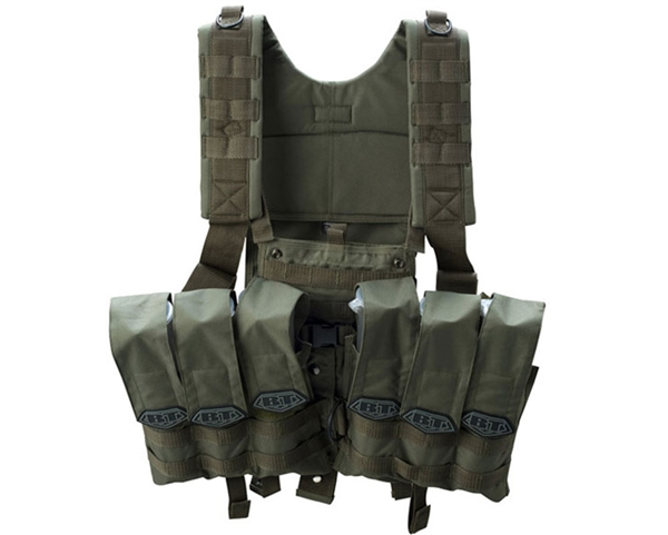 BT 2011 Chest Rig Paintball Vest - Olive