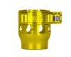 Custom Products Lever Lock Clamping Feed Neck - Autococker/Bob Long Thread - Yellow
