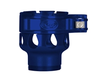 Custom Products Lever Lock Clamping Feed Neck - Azodin/Empire/Kingman/Smart Parts/WDP Thread - Blue