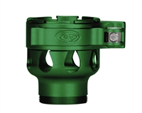 Custom Products Lever Lock Clamping Feed Neck - Azodin/Empire/Kingman/Smart Parts/WDP Thread - Dust Green