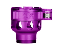 Custom Products Lever Lock Clamping Feed Neck - Azodin/Empire/Kingman/Smart Parts/WDP Thread - Dust Purple