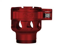 Custom Products Lever Lock Clamping Feed Neck - Azodin/Empire/Kingman/Smart Parts/WDP Thread - Dust Red