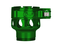 Custom Products Lever Lock Clamping Feed Neck - Azodin/Empire/Kingman/Smart Parts/WDP Thread - Green