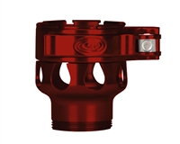 Custom Products Lever Lock Clamping Feed Neck - Azodin/Empire/Kingman/Smart Parts/WDP Thread - Red