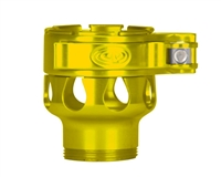Custom Products Lever Lock Clamping Feed Neck - Azodin/Empire/Kingman/Smart Parts/WDP Thread - Yellow