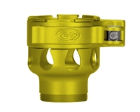 Custom Products Lever Lock Clamping Feed Neck - Dangerous Power/Dye/Proto Thread - Dust Yellow