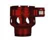 Custom Products Lever Lock Clamping Feed Neck - Dangerous Power/Dye/Proto Thread - Red