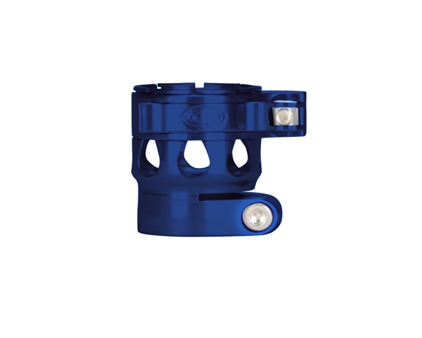 Custom Products Lever Lock Clamping Feed Neck - Planet Eclipse Early Model Ego/Etek Thread - Blue